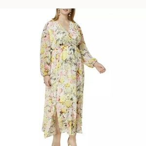 Inc Floral Maxi Dress Plus Size 2X